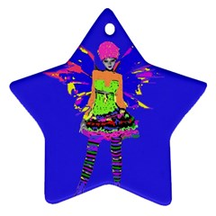 Fairy Punk Star Ornament (two Sides)  by icarusismartdesigns