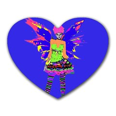 Fairy Punk Heart Mousepads by icarusismartdesigns