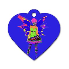 Fairy Punk Dog Tag Heart (one Side) by icarusismartdesigns