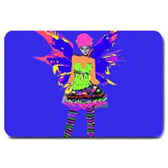 Fairy Punk Large Doormat  by icarusismartdesigns
