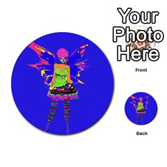 Fairy Punk Multi Purpose Cards (round)  by icarusismartdesigns
