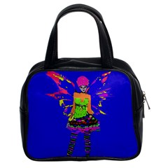 Fairy Punk Classic Handbags (2 Sides) by icarusismartdesigns