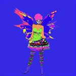 Fairy Punk Storage Stool 12   Front