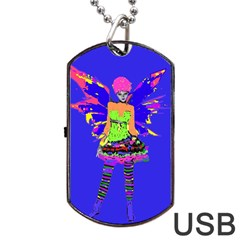 Fairy Punk Dog Tag Usb Flash (two Sides)  by icarusismartdesigns