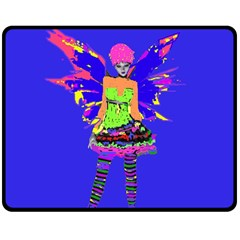 Fairy Punk Double Sided Fleece Blanket (medium)  by icarusismartdesigns