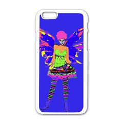 Fairy Punk Apple Iphone 6 White Enamel Case by icarusismartdesigns