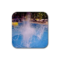 Splash 3 Rubber Square Coaster (4 Pack)  by icarusismartdesigns