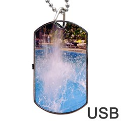 Splash 3 Dog Tag Usb Flash (two Sides)  by icarusismartdesigns