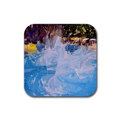 Splash 4 Rubber Square Coaster (4 Pack)  by icarusismartdesigns