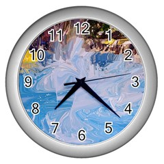 Splash 4 Wall Clocks (silver)  by icarusismartdesigns