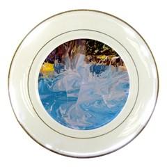 Splash 4 Porcelain Plates by icarusismartdesigns