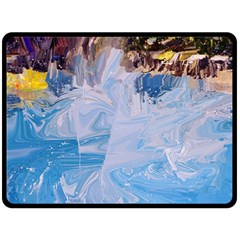 Splash 4 Fleece Blanket (large)  by icarusismartdesigns