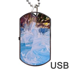 Splash 4 Dog Tag Usb Flash (two Sides)  by icarusismartdesigns