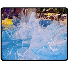 Splash 4 Double Sided Fleece Blanket (medium)  by icarusismartdesigns