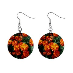 Tagetes Mini Button Earrings