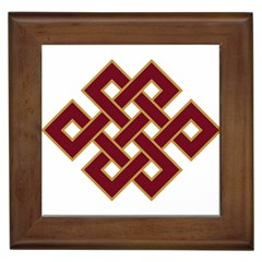 Buddhist Endless Knot Auspicious Symbol Framed Tile