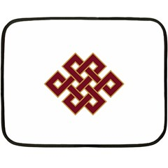Buddhist Endless Knot Auspicious Symbol Double Sided Fleece Blanket (mini) by CrypticFragmentsColors