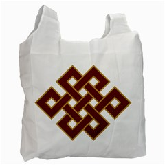 Buddhist Endless Knot Auspicious Symbol Recycle Bag (one Side)