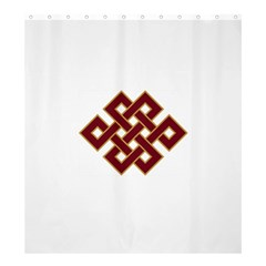 Buddhist Endless Knot Auspicious Symbol Shower Curtain 66  X 72  (large) by CrypticFragmentsColors