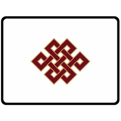 Buddhist Endless Knot Auspicious Symbol Fleece Blanket (large)