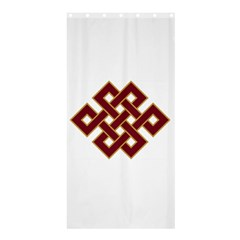 Buddhist Endless Knot Auspicious Symbol Shower Curtain 36  X 72  (stall) by CrypticFragmentsColors