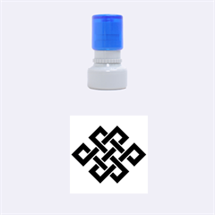 Buddhist Endless Knot Auspicious Symbol Rubber Stamp Round (small) by CrypticFragmentsColors