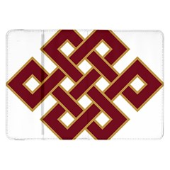 Buddhist Endless Knot Auspicious Symbol Samsung Galaxy Tab 8 9  P7300 Flip Case by CrypticFragmentsColors