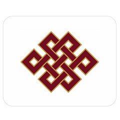 Buddhist Endless Knot Auspicious Symbol Double Sided Flano Blanket (medium) by CrypticFragmentsColors