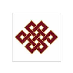 Buddhist Endless Knot Auspicious Symbol Satin Bandana Scarf by CrypticFragmentsColors
