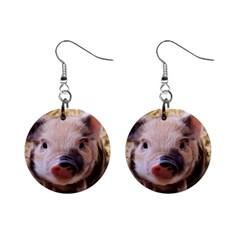 Sweet Piglet Mini Button Earrings