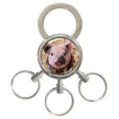 Sweet Piglet 3 Ring Key Chains