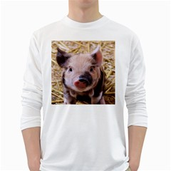 Sweet Piglet White Long Sleeve T Shirts