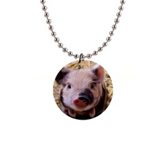 Sweet Piglet Button Necklaces by ImpressiveMoments