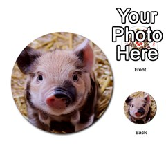 Sweet Piglet Multi Purpose Cards (round)