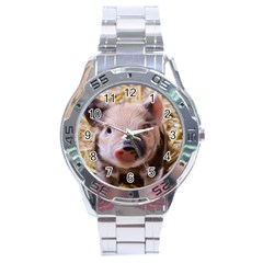 Sweet Piglet Stainless Steel Men s Watch by ImpressiveMoments