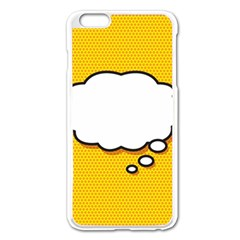 Comic Book Think Apple Iphone 6 Plus Enamel White Case by ComicBookPOP