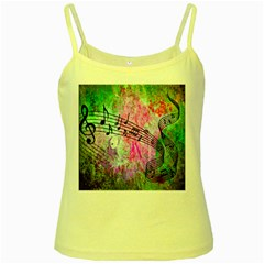Abstract Music  Yellow Spaghetti Tanks by ImpressiveMoments