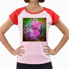 Abstract Music  Women s Cap Sleeve T Shirt
