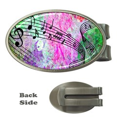 Abstract Music  Money Clips (oval)