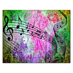 Abstract Music  Rectangular Jigsaw Puzzl