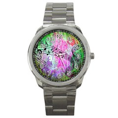 Abstract Music  Sport Metal Watches by ImpressiveMoments