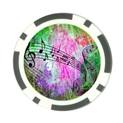 Abstract Music  Poker Chip Card Guards