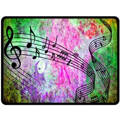 Abstract Music  Fleece Blanket (large)