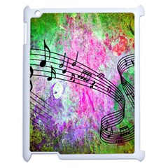 Abstract Music  Apple Ipad 2 Case (white)