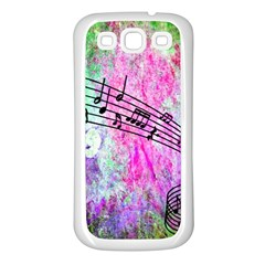 Abstract Music  Samsung Galaxy S3 Back Case (white)