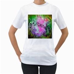 Abstract Music  Women s T Shirt (white)
