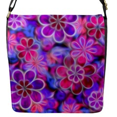 Pretty Floral Painting Flap Messenger Bag (s) by KirstenStar