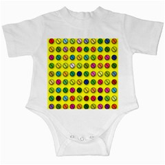 Multi Col Pills Pattern Infant Creepers by ScienceGeek