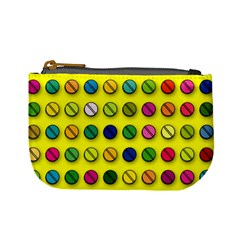 Multi Col Pills Pattern Mini Coin Purses by ScienceGeek