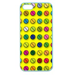 Multi Col Pills Pattern Apple Seamless Iphone 5 Case (color) by ScienceGeek